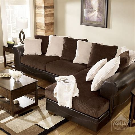 ashley furniture homestore victory chocolate sectional ashley furniture sofas furniture