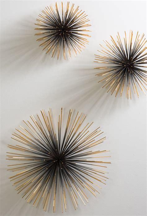 Kreative Dekoideen Wohnzimmer Mit 3d Wanddeko Metall Als