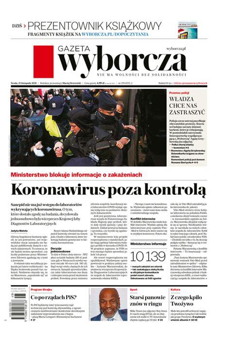 e-Kiosk.pl - Gazeta Wyborcza (Stołeczna) 25.11.2020 (276)