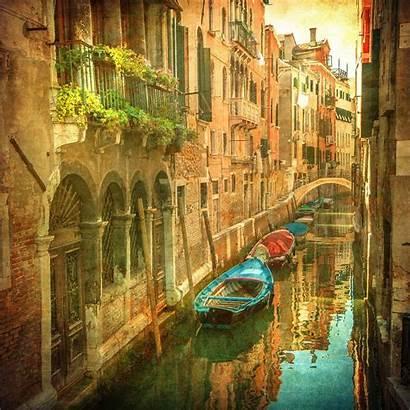 Venice Venetian Italy Mural Wenecja Canals Imagem