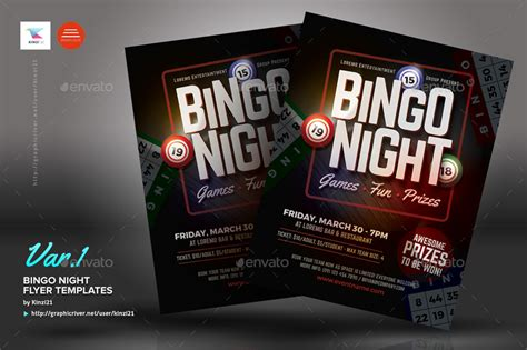 bingo night flyer templates  kinzi graphicriver
