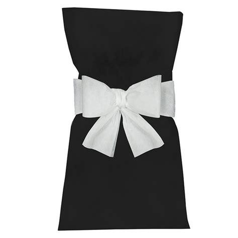 housse de chaise papier noeud housse de chaise blanc achat vente déco de salle