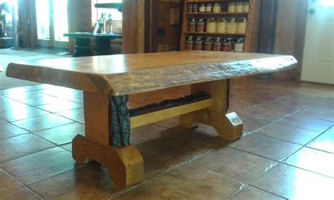 Such a cute and quaint coffee shop! Heartwood Coffee Table - Heartwood Log & Lumber, LLC