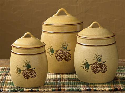 pinecone kitchen accessories pine bluff ceramic canister set 1496