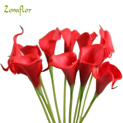 calla lily table l zonaflor 30pcs decorative flowers calla lily 2017 pu real