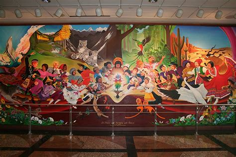 Denver Airport Murals Conspiracy Theory by Dia Murals Tanguma The Dia Conspiracy Files