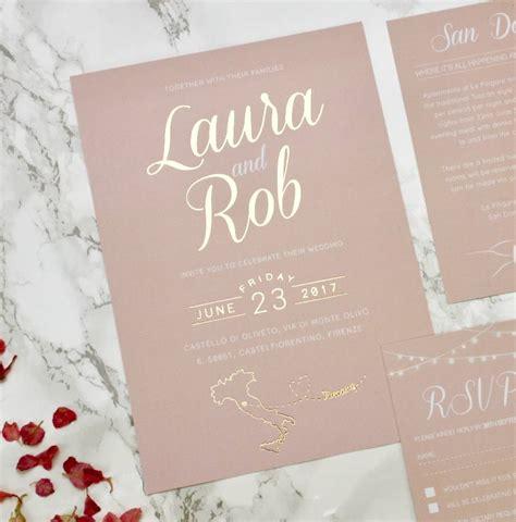 blush wedding invitations type blush and gold wedding invites designed by 1989