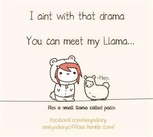 Chibi Cute Cartoon Llama