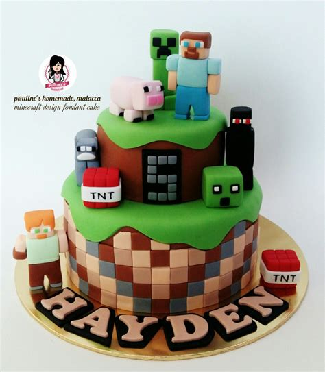 Minecraft ☆ Design Fondant Cake  ♡ Fondant ♡ Pinterest