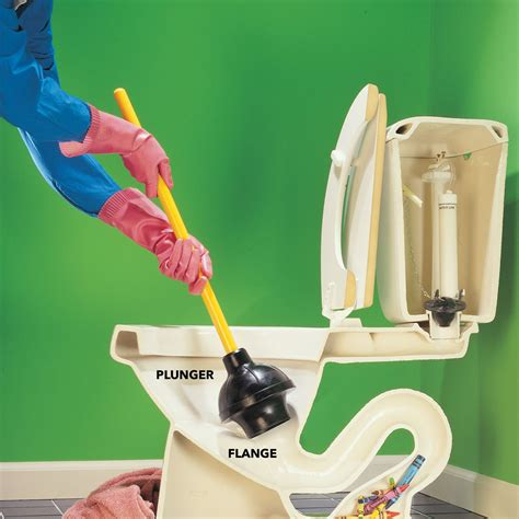 how to plunge a toilet how to unclog a toilet the family handyman