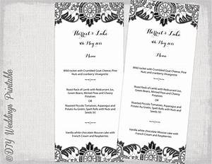 menu template black and white diy wedding menu antique With menu template for pages