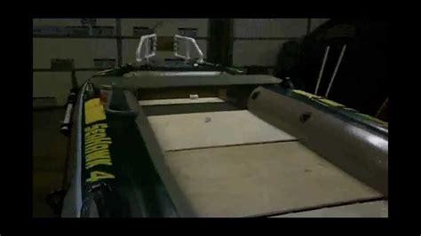 Custom Inflatable Fishing Boat by Diy Intex Seahawk 4 Inflatable Custom Bass Boat Mod