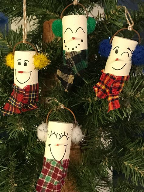 snowman wine cork ornament  willowdezigns  etsy
