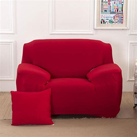 Fitted Covers For Settees by Single Sofa Elastic Slipcover Stretch Solid Covers