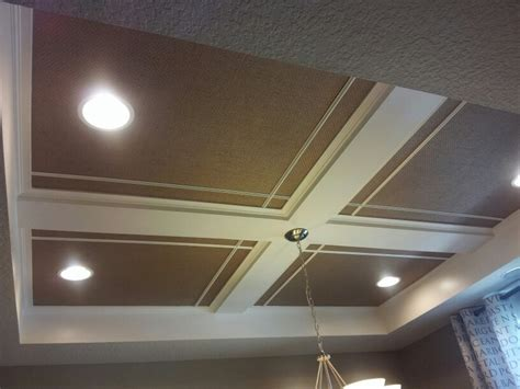 Simple Coffered Ceiling by Easy Coffered Ceiling Diy Basement Ideas