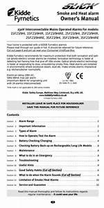 Kidde 0910uk Smoke Alarm User Manual