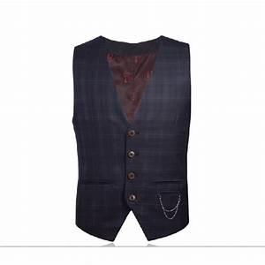 Gilet Sans Manche Homme Costume : gilet sans manches pour homme avec carreaux cossais bleu ~ Farleysfitness.com Idées de Décoration