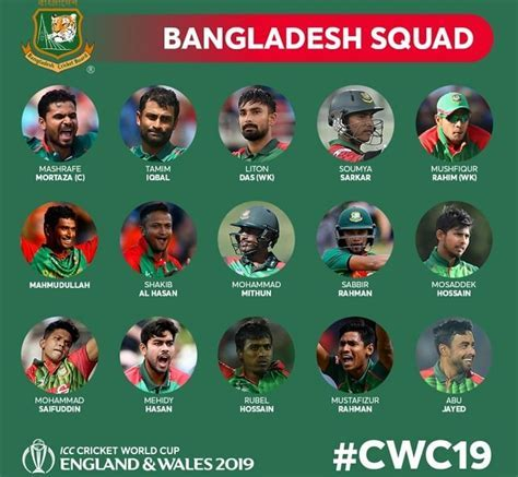 Bangladesh Squad ? ICC Cricket World Cup 2019   Team and