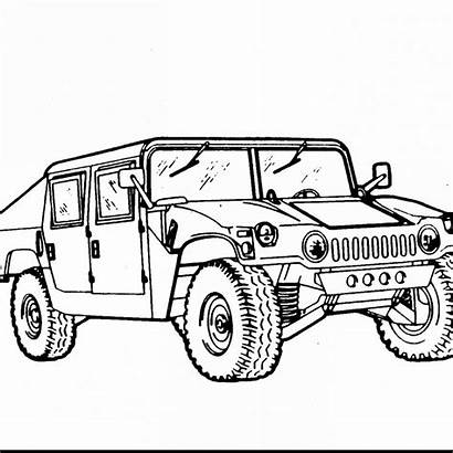 Drawing Pages Army Coloring Vehicles Hummer Military