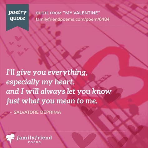 My Valentine Song, Romantic Valentine's Day Poem