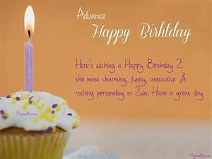 Birthday Wishes In Advance