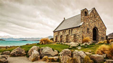 papeis de parede escocia igreja pedras casa lago