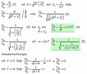 Ortskurve Berechnen : passive rc und rl hochp sse mit bertragungsfunktionen ~ Themetempest.com Abrechnung