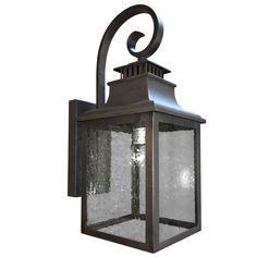 portfolio 15 62 in h led rust dark sky outdoor wall light