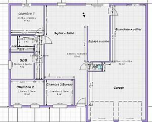 plan maison plain pied 100m2 votre avis 87 messages With plan de maison plain pied 100m2