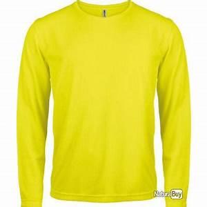 Tee Shirt Jaune Homme : t shirt manches longues homme jaune fluo s pa443 tee shirts outdoor 742162 ~ Melissatoandfro.com Idées de Décoration