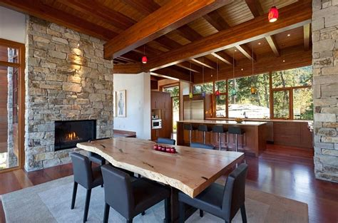 cuisine chalet moderne sweeping mountain lake views modern chalet architecture