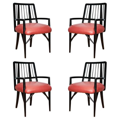 set of four custom designed dining chairs by paul l 225 szl 243