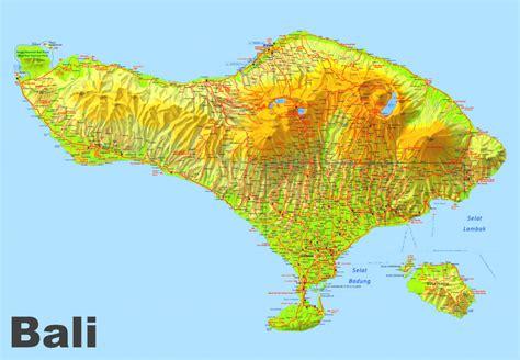 bali maps indonesia maps  bali island  printable