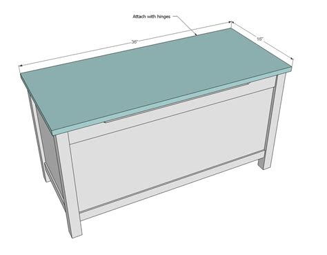 ana white simple modern toy box  lid diy projects
