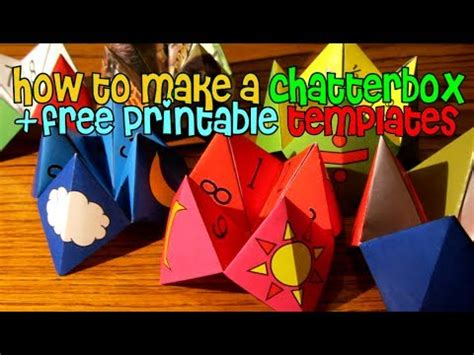 chatterbox fortune teller  printable