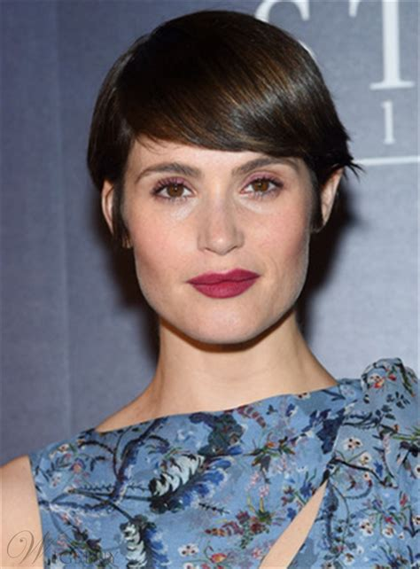 gemma arterton short straight emo bangs capless human hair wig wigsbuycom