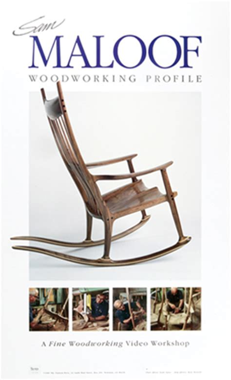 Maloof Rocking Chair Router Bits by Sam Maloof Woodworking Profile Poster