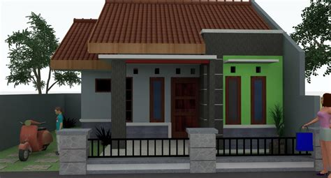 bentuk rumah sederhana cantik gambar desain model rumah
