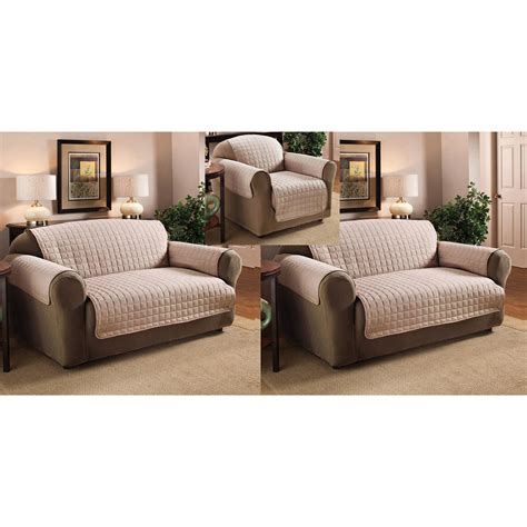 And Loveseat Cover Sets by Polyester Microfiber Quilted Chair Loveseat And Sofa