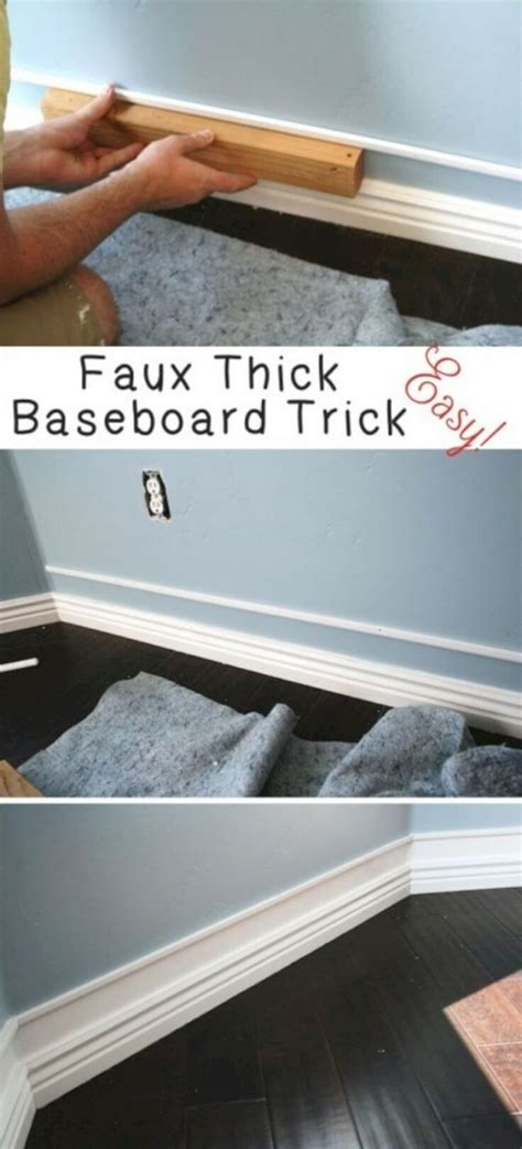 easily double   baseboard trim  small