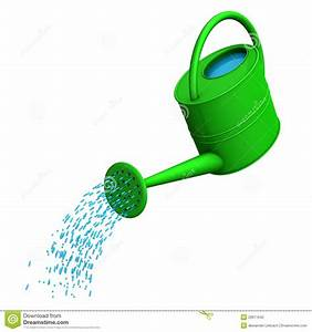 Cartoon Watering Can Pouring Water Clipart - Free Clipart