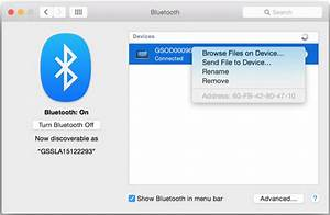 sharing files between os x systems with bluetooth With my documents bluetooth folder