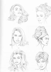 types of hairstyle figure drawing martel fashion