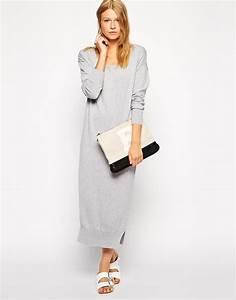 robe laine hiver longue gris clair la robe longue With robe longue en laine