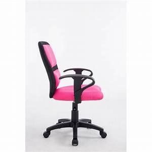 Tissu Pour Chaise : fauteuil chaise de bureau pour enfant avec accoudoirs en tissu maille rose hauteur r glable ~ Teatrodelosmanantiales.com Idées de Décoration
