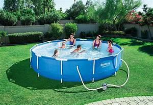 Garten Pool Bestway : bestway piscina fuori terra con telaio portante da giardino piscina esterna in pvc triplice ~ Frokenaadalensverden.com Haus und Dekorationen