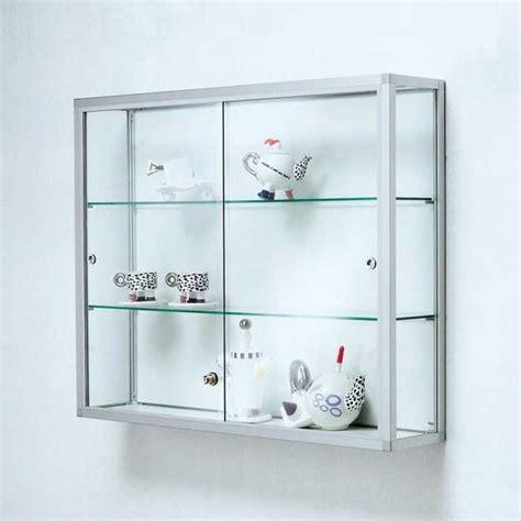 Glasvitrine Hängend Ikea by Glasvitrine Abschlie 223 Bar Mit Wandvitrine Aus Aluminium F 252 R