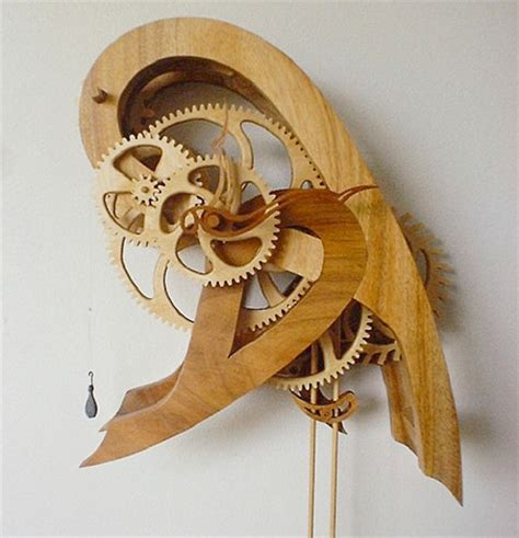 woodworking plans wooden clock design wooden gear clock plans from hawaii by clayton boyer