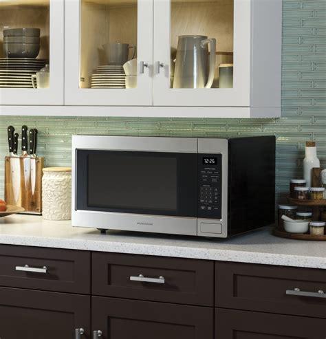 zebshss monogram  cu ft countertop  built  microwave stainless steel