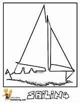 Coloring Boat Sailing Sail Sheet Boats Yescoloring Ship Superb Sailboat Yachts Race sketch template
